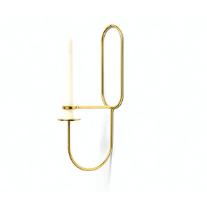 LUP Wall Brass Oblong Candlestick(505553)