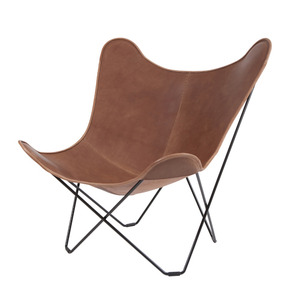 Leather Mariposa Chair - Light Brown