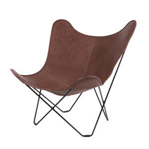 Leather Mariposa Chair - Dark Brown