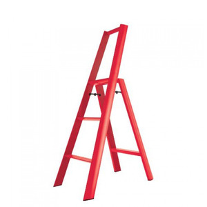 Lucano step stool / 3-step, red 94016