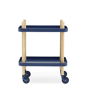 Block Table, dark blue