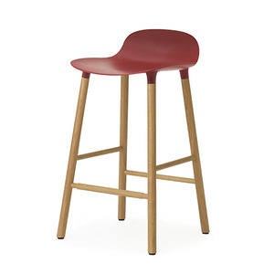 Form Barstool 65 (oak), red(602785)