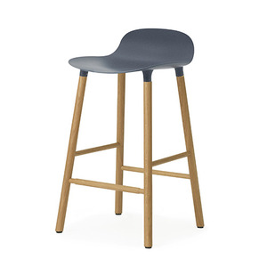 Form Barstool 65 (oak), blue(602783)