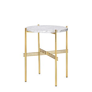 GamFratesi TS Table Ø40 Marble White/brass(1017) 주문 후 3개월 소요