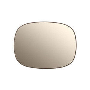 Framed Mirror, Taupe